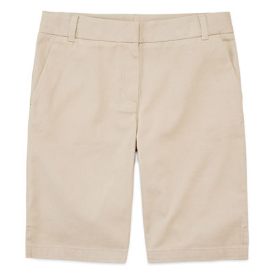 IZOD® Twill Bermuda Shorts - Girls 4-16, Slim and Plus