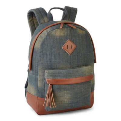 A D Sutton Cotton Print Dome Vinyl Bottom Backpack