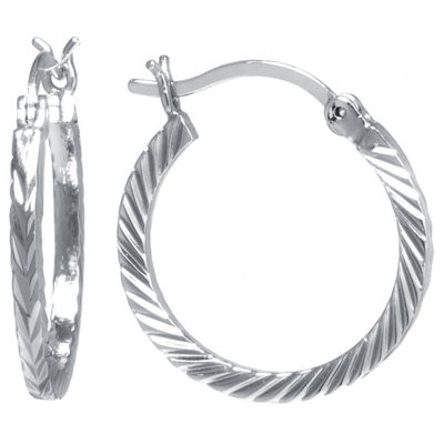 Sparkle Allure 21mm Hoop Earrings