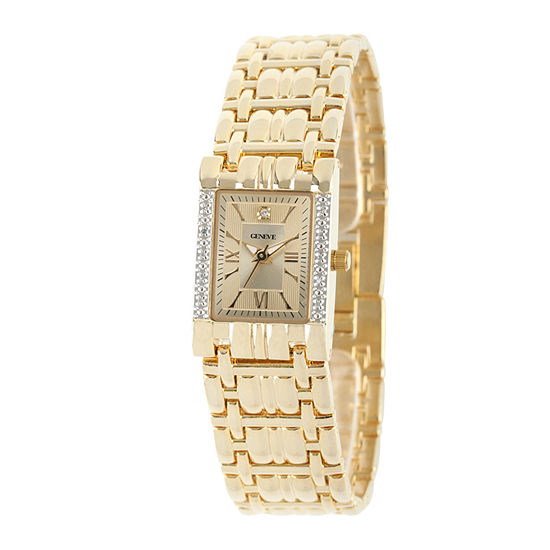 Womens Crystal Accent Gold Tone Bracelet Watch-508903