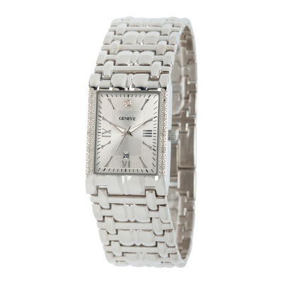 Mens Silver Tone Bracelet Watch-508871