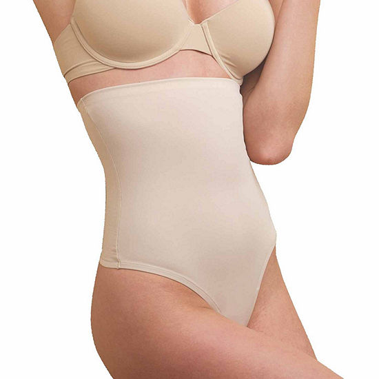 Naomi And Nicole Soft & Smooth Wonderful Edge Moderate Control High-Waist Thong