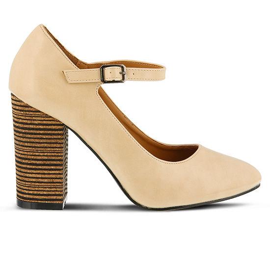 Spring Step Womens Pinup Pumps Block Heel
