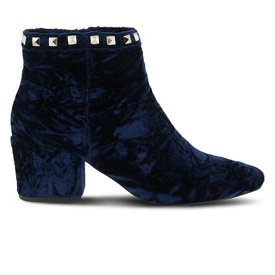 Spring Step Womens Kunzite Booties Block Heel