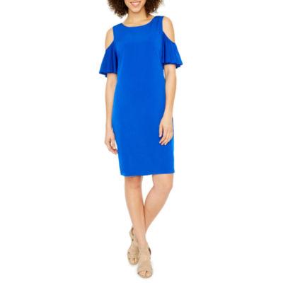 Ronni Nicole Short Sleeve Shift Dress