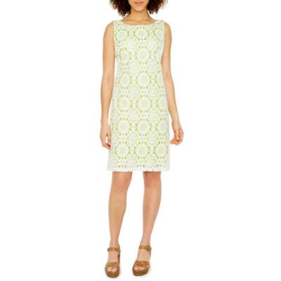 Jessica Howard Sleeveless Lace Shift Dress