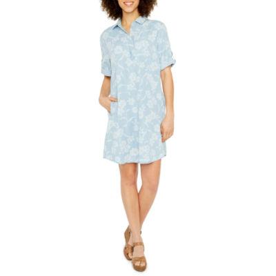 Ronni Nicole Elbow Sleeve Shirt Dress