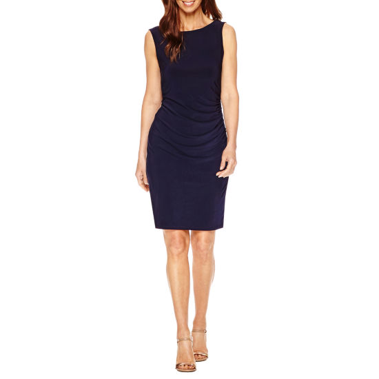 Blu Sage Sleeveless Embellished Sheath Dress-Petites