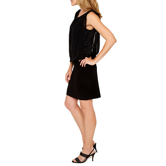 Scarlett Beaded Chiffon Blouson Dress
