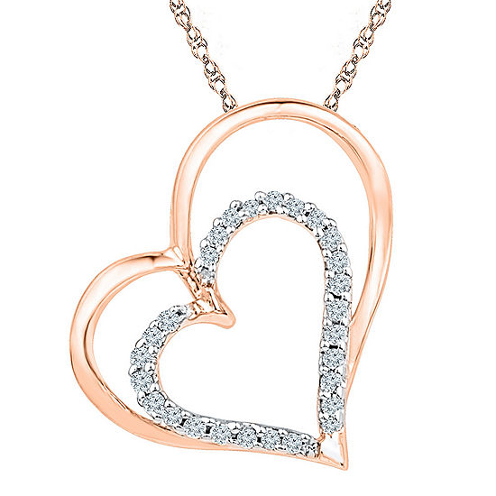Womens 18 Inch 1/8 CT. T.W. White Diamond 10K Gold Link Necklace