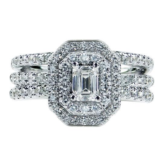 Womens 1/2 CT. T.W. Genuine White Diamond 14K Gold Engagement Ring