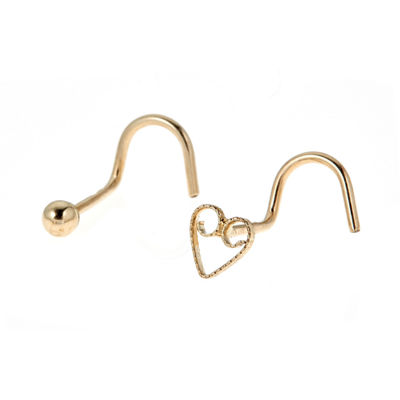 14K Gold Nose Ring