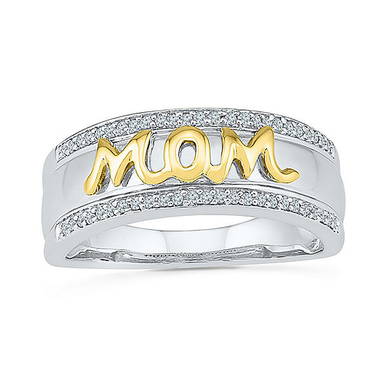 Womens 1 6 Ct Tw Genuine White Diamond 10k Gold Over Silver Cocktail Ring