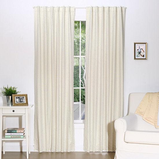 The Peanut Shell Rod-Pocket Curtain Panel