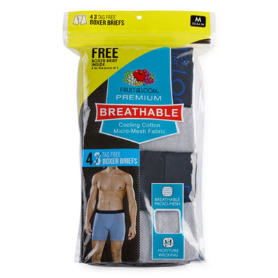 Fruit Of The Loom Breathable 4-pc. Boxer Briefs