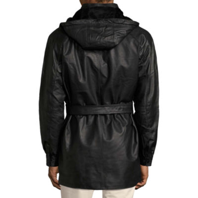 Vintage Leather Hooded Parka With Zip Out Lining - Big