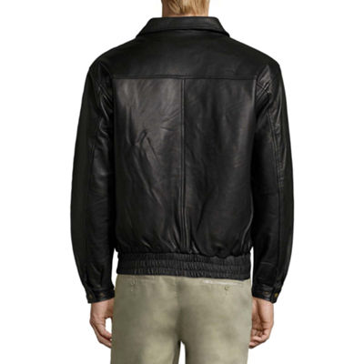 Vintage Leather Lambskin Bomber Jacket with Zip Out Lining