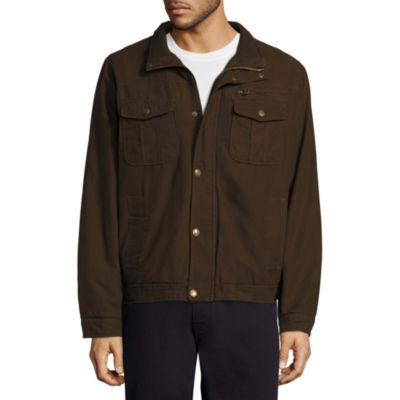 Twill Jkt Sherpa Canvas Car Coat