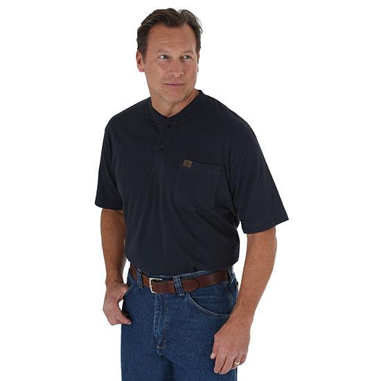 Wrangler Riggs Mens Short Sleeve Henley Shirt