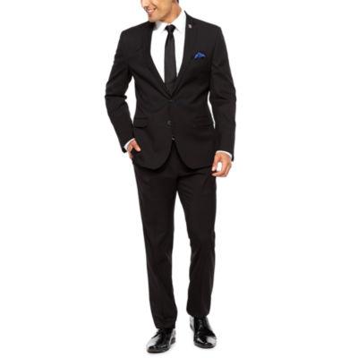 Nick Graham Black Pin Dot Suit Set-Slim