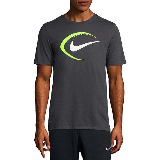 Nike Mens Crew Neck Short Sleeve Logo Graphic T-Shirt
