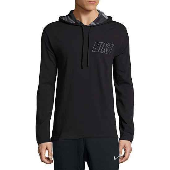 Nike Mens Crew Neck Long Sleeve Logo Graphic T-Shirt