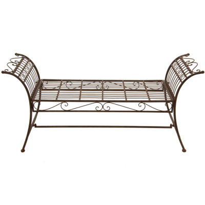 Oriental Furniture Rustic Decorative Garden Bench