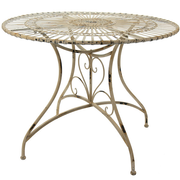 Oriental Furniture Rustic Circular Garden Table