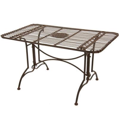 Oriental Furniture Rustic Rectangular Garden Table