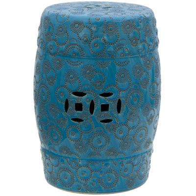Oriental Furniture Spherical Design Porcelain Patio Garden Stool