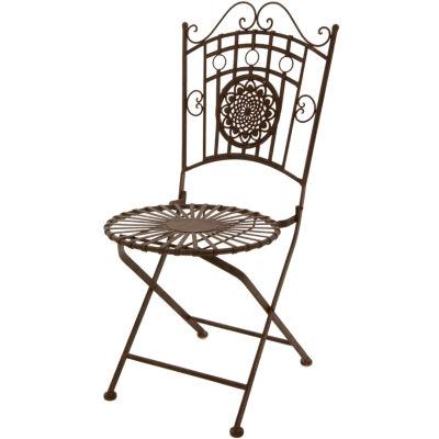 Oriental Furniture Wrought Iron Garden Chair