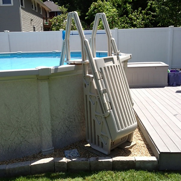 Vinyl Works Neptune A-Frame Entry System for AboveGround Pools - Taupe