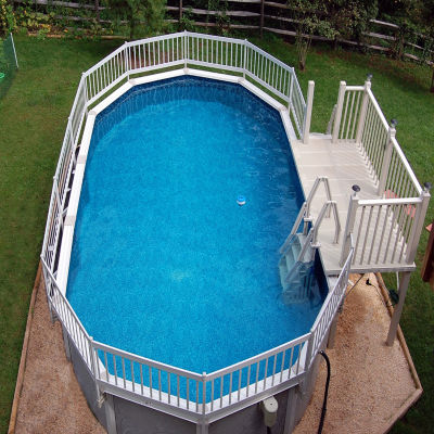 Vinyl Works Deluxe 24-in In-Pool Step for Above Ground Pools - Taupe
