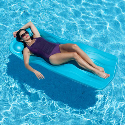 Aqua Cell Marquis Pool Float - 70-in x 1.25-in Thick - Aqua
