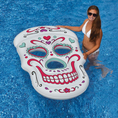 Swimline Sugar Skull™ 62-in x 40-in Inflatable Pool Float