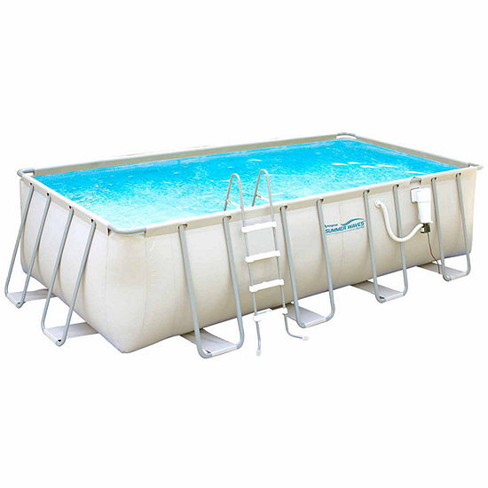 Summer Waves Elite 9-ft x 18-ft Rectangular 52-inDeep Metal Frame ...