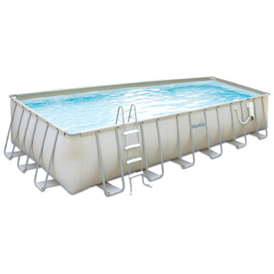 Summer Waves Elite 12-ft x 24-ft Rectangular 52-inDeep Metal Frame ...