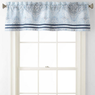 Home Expressions Kinsley Rod-Pocket Tailored Valance