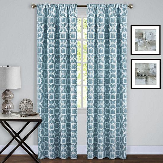 Tara Light-Filtering Rod-Pocket Single Curtain Panel