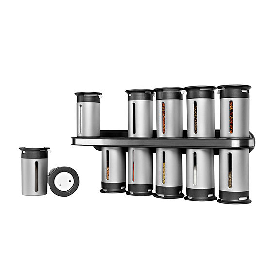 Zevro® Zero Gravity 12-Canister Magnetic Wall-Mounted Spice Rack