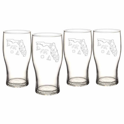 Cathy's Concepts My State 4-pc. Pilsner Glass