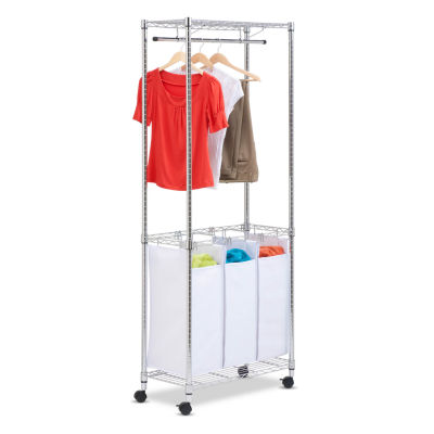 Honey-Can-Do® Chrome Rolling Urban Laundry Center