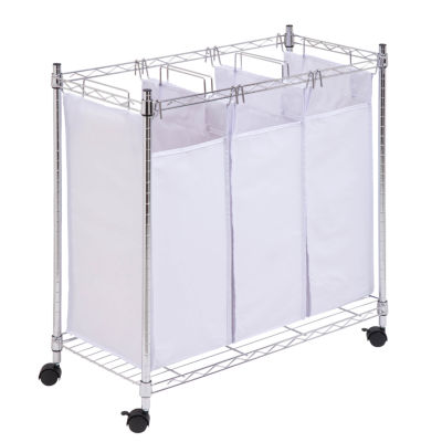 Honey-Can-Do® Chrome Urban Triple Sorter