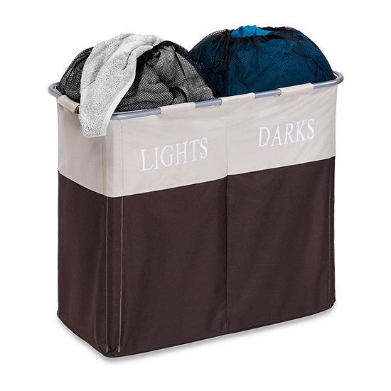 Honey-Can-Do® Dual Compartment Light/Dark Hamper