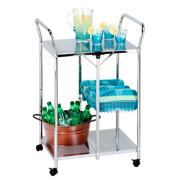 Honey-Can-Do® Deluxe Folding Utility Cart