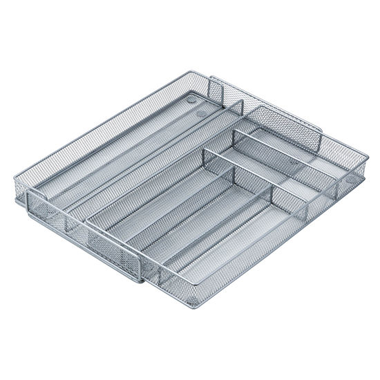 Steel Mesh 7-Compartment Cutlery Tray / Drawer Storage