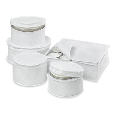 Honey-Can-Do® 5-Piece Dinnerware Storage Set
