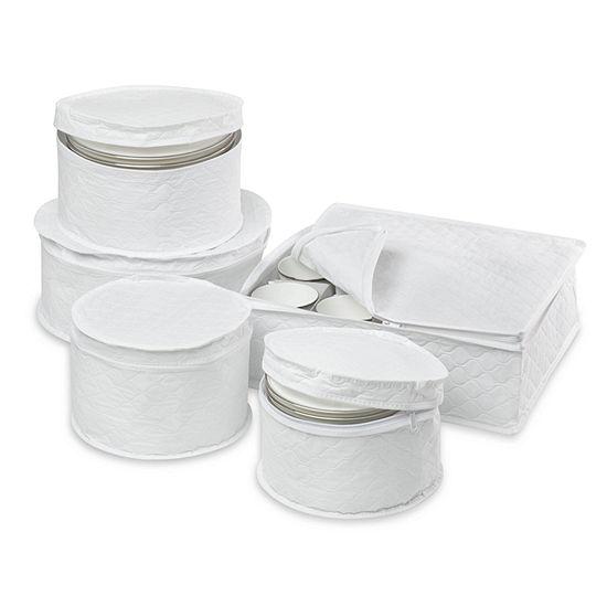 Honey-Can-Do® 5-Piece Dinnerware Storage Set