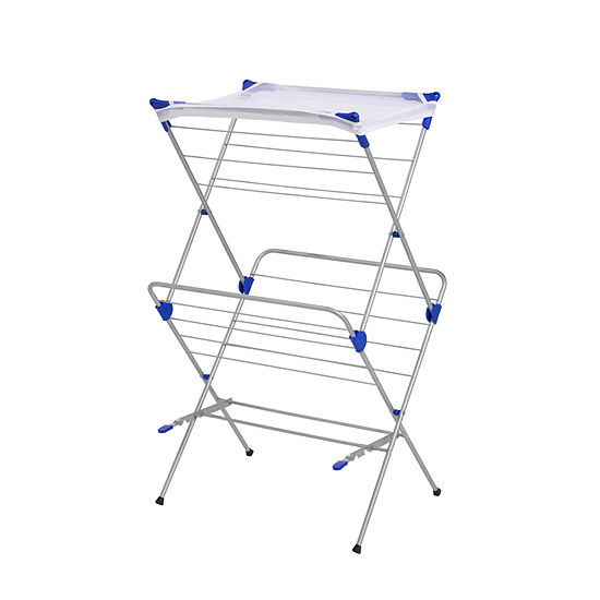 Honey Can Do Foldable Drying Rack With Mesh Top 2 Tiers