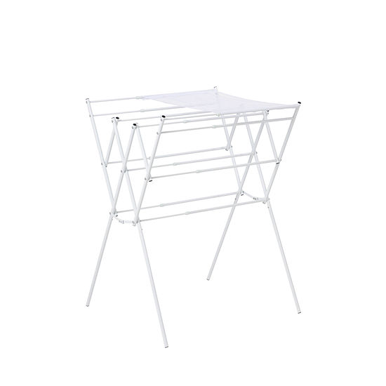 Honey-Can-Do® Expandable Drying Rack with Mesh Top, White Finish